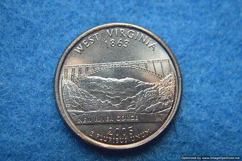 2005 P West Virginia 50 States and Territories Quarters
