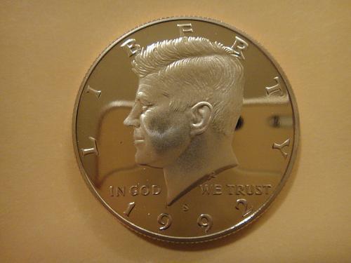 1992-S Clad Kennedy Half Dollar Proof-67 (SUPER GEM)