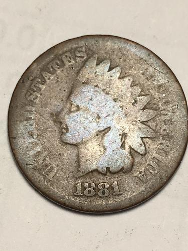 1881 Indian Head Cent Item 1118076