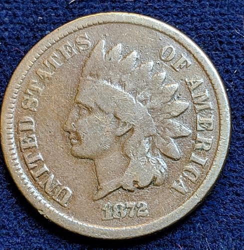 1872 GOOD INDIAN CENT