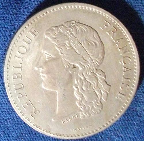 1890 France 2nd Exposition Medal, Nickel, XF