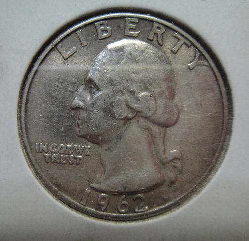 1962 TYPE B Washington Quarter Extra Fine-40