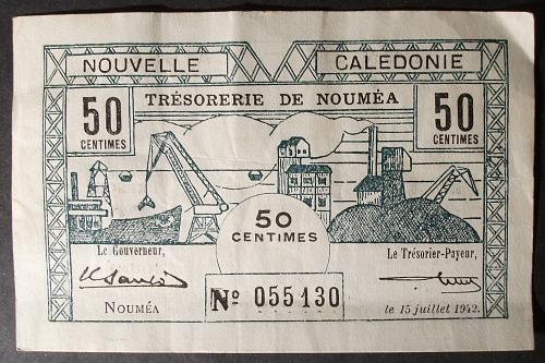 New Caledonia P51 50 Centimes VF