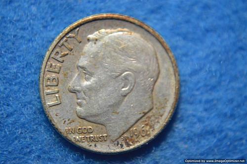 1961 D Roosevelt Dime