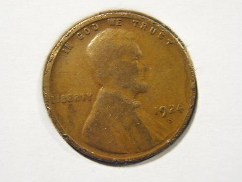 1924 S Lincoln Cent (24SEW)