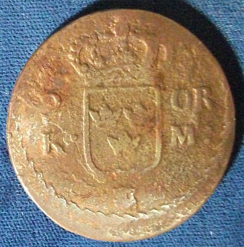 1662 Sweden 2 Ore Fine Details