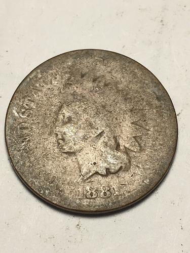 1881 Indian Head Cent Item 1118090