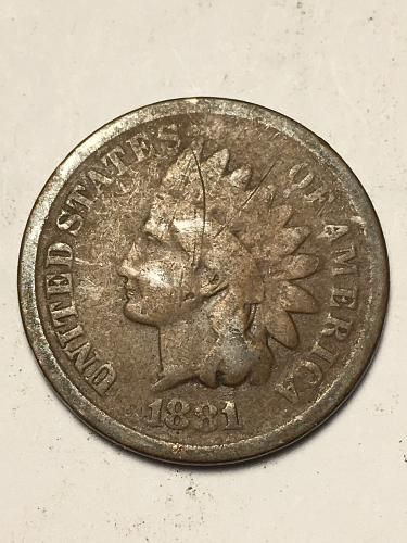 1881 Indian Head Cent Item 1118091