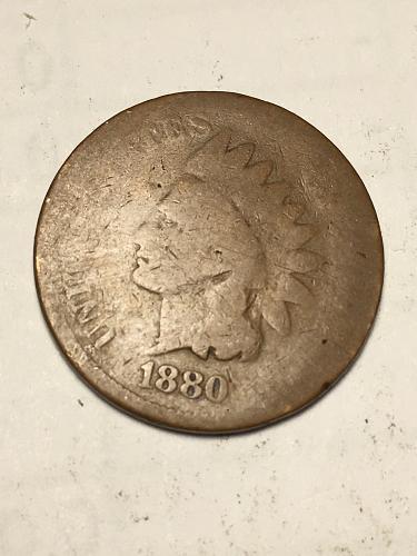 1880 Indian Head Cent Item 1118097