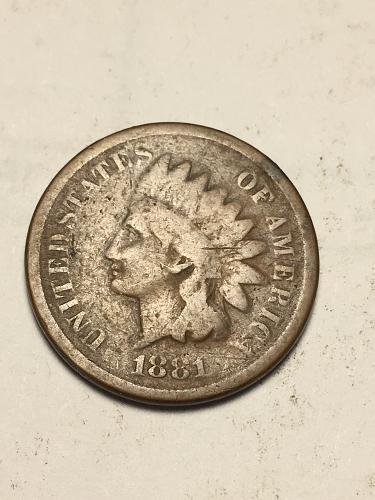1881 Indian Head Cent Item 1118098