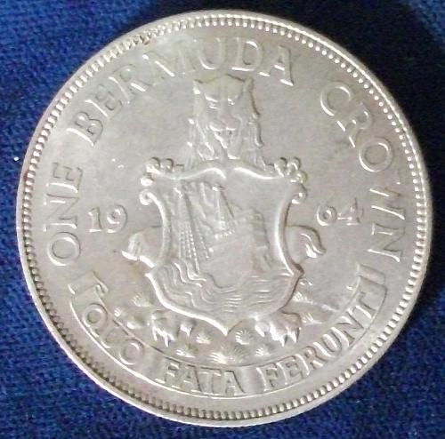 1964 Bermuda Crown AU