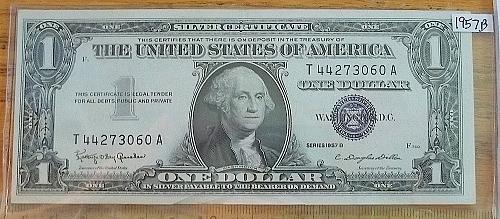 1957B Blue Seal $1.00  Lot BPmT4