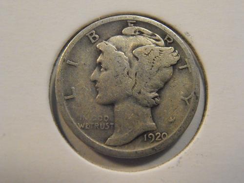 1920 P Mercury Silver Dime (20P2)