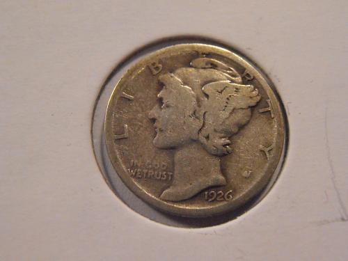 1926 S Mercury Silver Dime (26ST2)