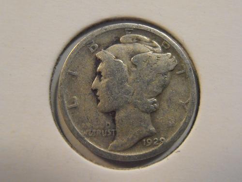 1929 P Mercury Silver Dime (29P5)