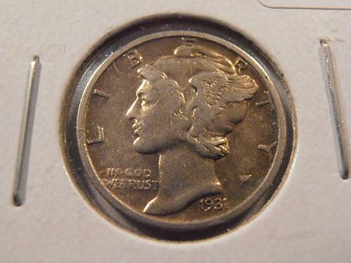 1931 S Mercury Silver Dime Low Mintage Semi-Key Coin! (31S2)