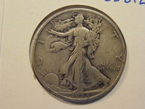 1933 S Walking Liberty Half Dollar (33S12)