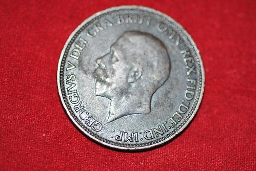 1931 Great Britain 1/2 Penny in extra fine to very fine