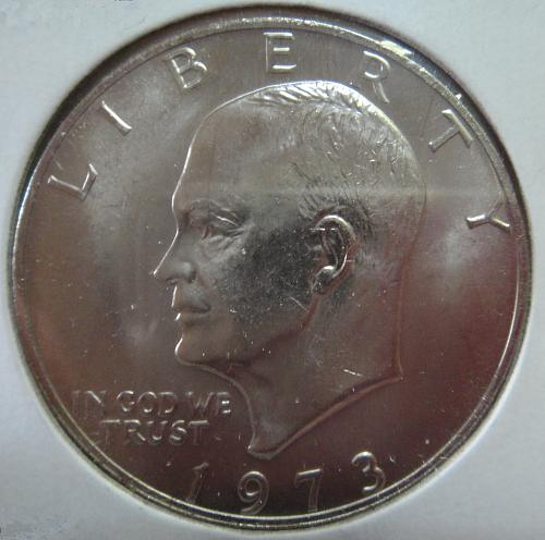 1973 Eisenhower Dollar MS-65 (GEM) Extremely SCARCE In This Grade!