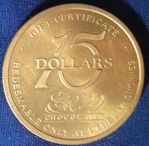 Ethel M. Chocolates $15 Gift Certificate