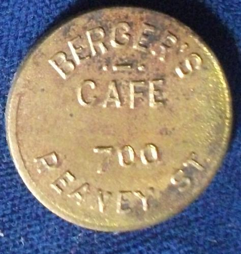 Berger's Cafe, Good For 5c in Trade, St. Paul, Minnesota
