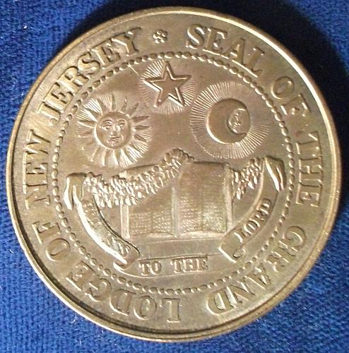 1976 Bi-Centennial Medal, Grand Lodge of New Jersey
