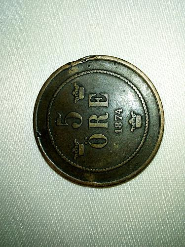 5 ORE  1874 , SWEDEN