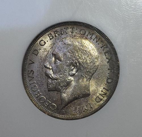 1918 Great Britain Florin NGC AU-58