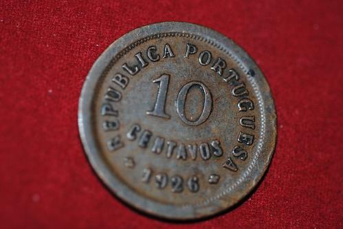 1926 Portugal 10 Cent in extra fine