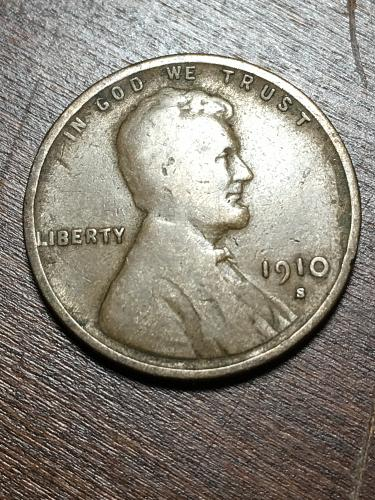 1910 S Lincoln Wheat Cent Item 1218025