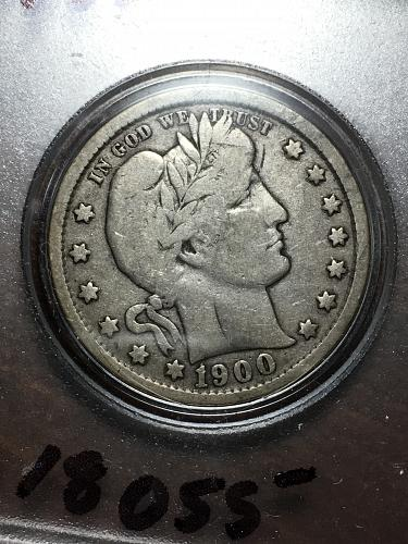 1900 Barber Quarter Item 1218055