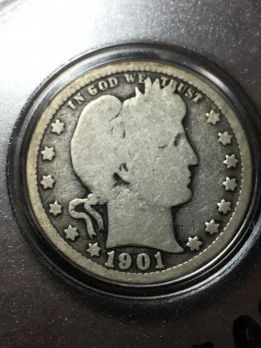 1901 Barber Quarter Item 1218056