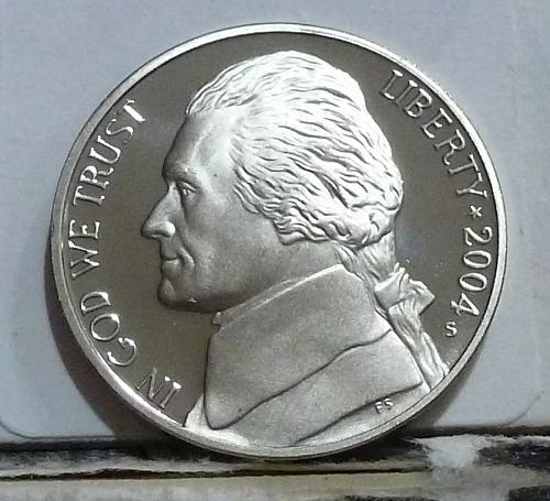 2004-S Peace Metal Gem Proof Jefferson Nickel  # 6510
