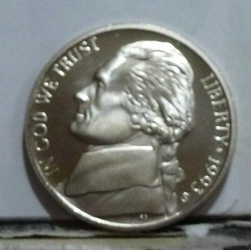 1993-S Gem Proof Jefferson Nickel  # 6522