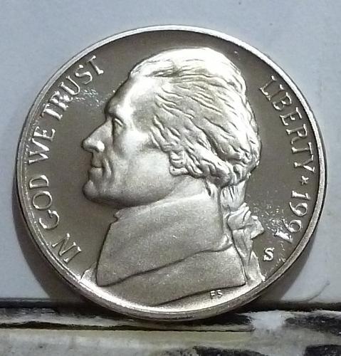 1991-S Gem Proof Jefferson Nickel  # 6524