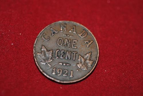 1921 Canada small cent in extra fine I would say