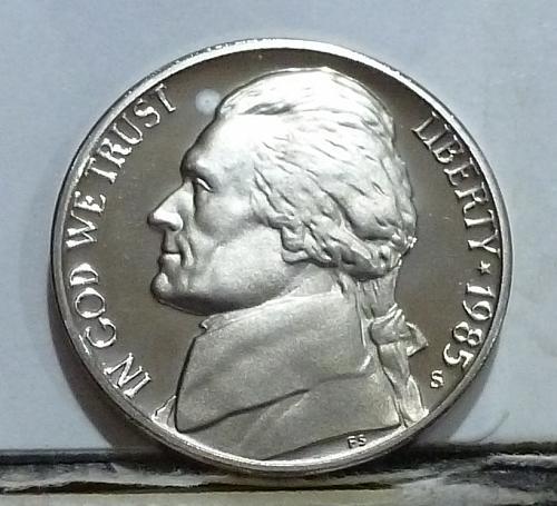 1985-S Gem Proof Jefferson Nickel  # 6530