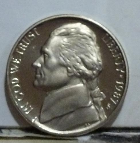 1987-S Gem Proof Jefferson Nickel  # 6528