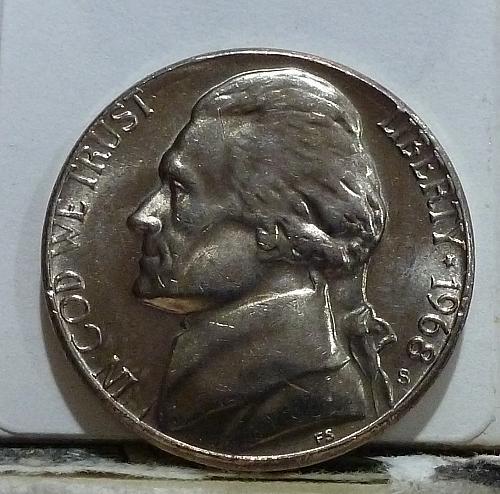 1968-S Gem Proof Jefferson Nickel  # 6535