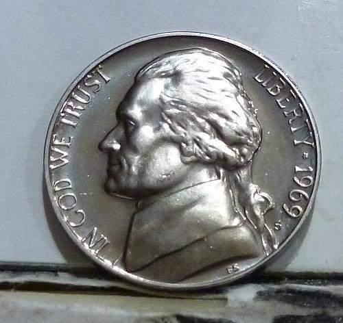 1969-S Gem Proof Jefferson Nickel  # 6536