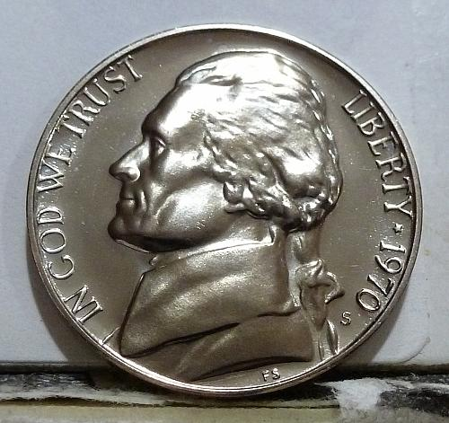 1970-S Gem Proof Jefferson Nickel  # 6537