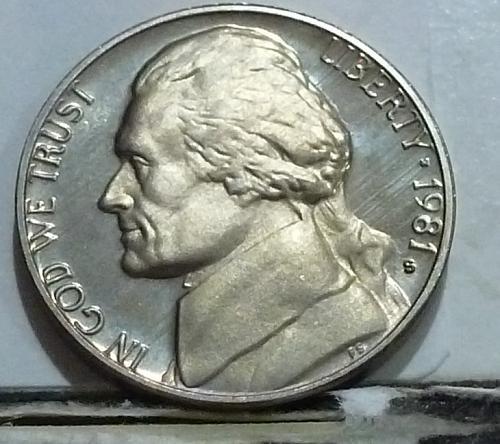 1981-S Type One Gem Proof Jefferson Nickel  # 6549