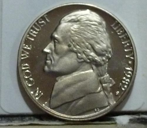 1982-S Gem Proof Jefferson Nickel  # 6550