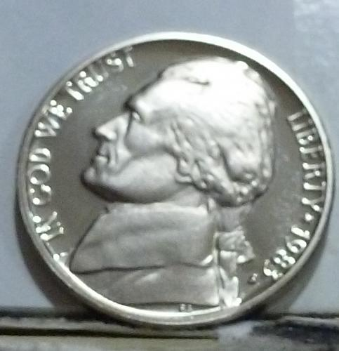 1983-S Gem Proof Jefferson Nickel  # 6551