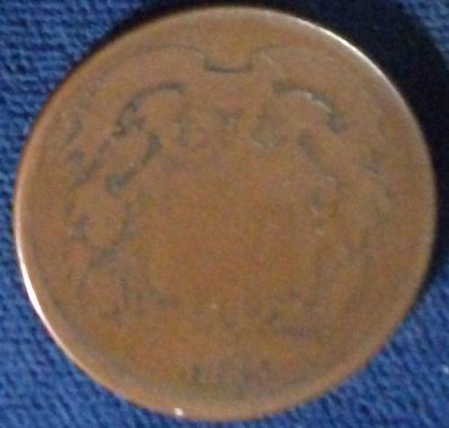 1865 2 Cent Piece AG