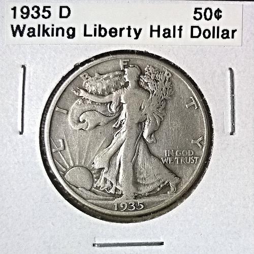 1935 D Walking Liberty Half Dollar - 6 Photos!