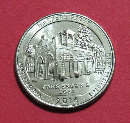 2016-D 25 Cents Harpers Ferry West Virginia National Parks America Beautiful Qtr