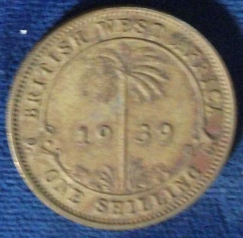 1939 British West Africa Shilling XF