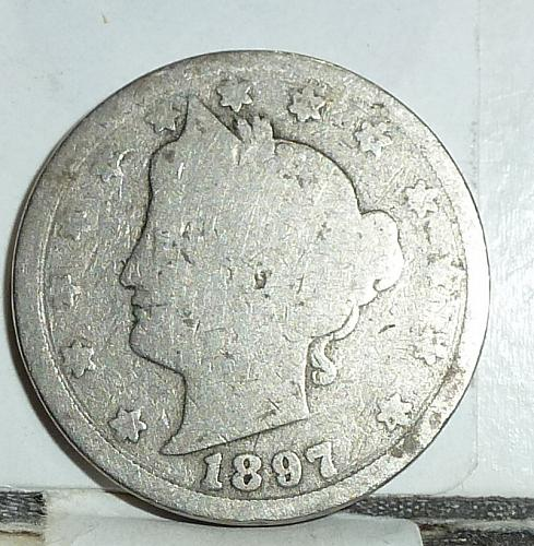 Here is a 1897 Liberty Nickel in Good Grade ( 6565 )