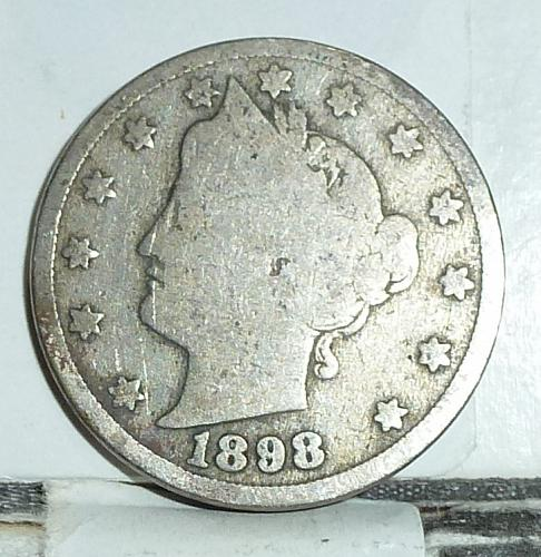 Here is a 1898 Liberty Nickel in Very Good Grade ( 6566 )